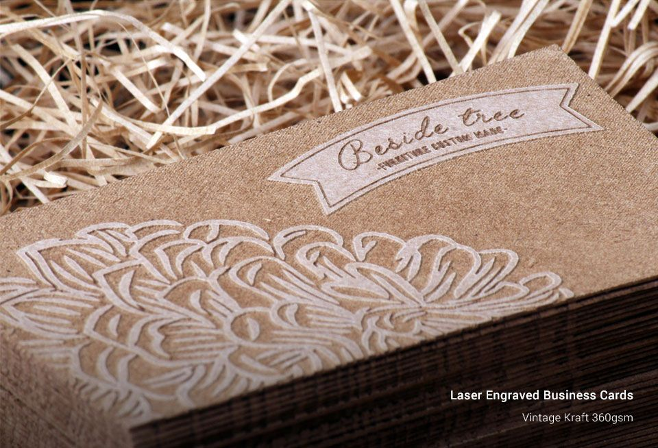 Laser engraved business cards singaprinting reheart Image collections