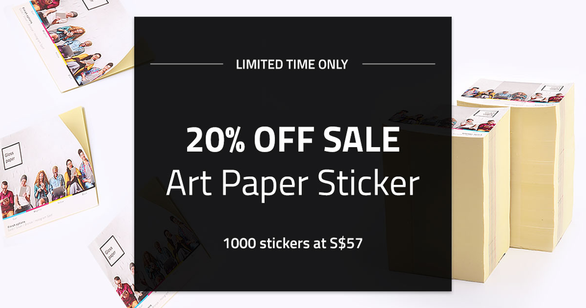 Art paper stickers singapores cheapest custom paper sticker printing glossy matte or uncoated paper stickers singaprinting