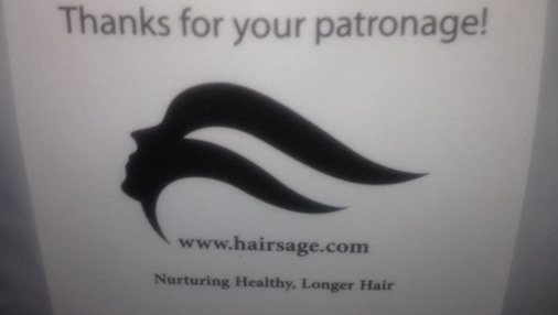 Hairsage.com Packaging Stickers