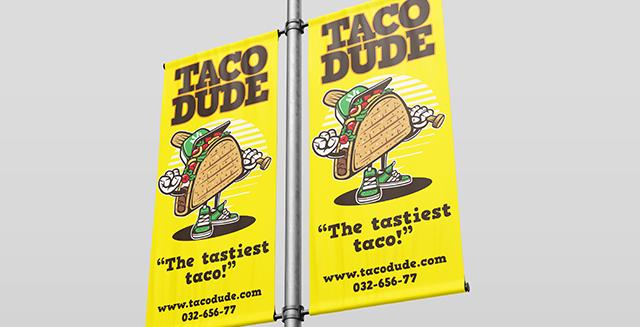 custom taco banners