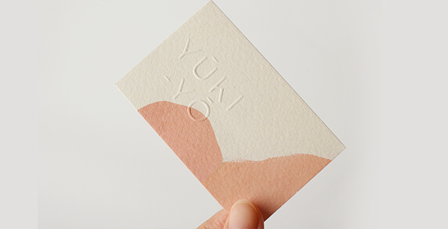 emboss custom business card
