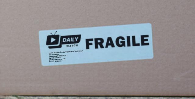 fragile custom stickers