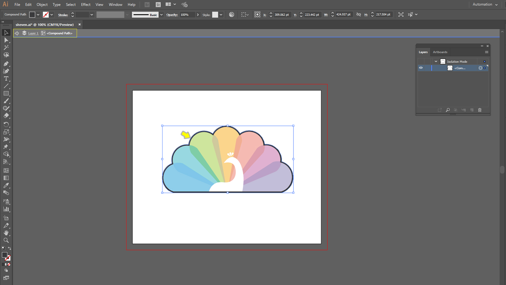 how to make die cut stickers step2