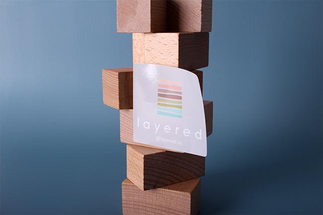 layered mirrorkote stickers