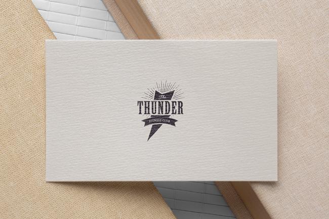 thunder textured business card