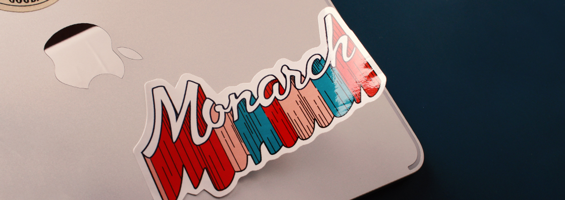 Monarch Custom Shape Standard Vinyl Stickers