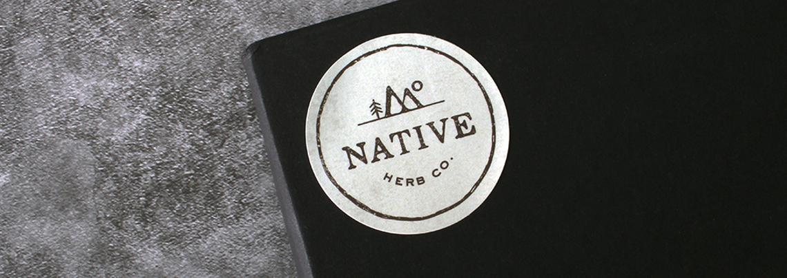 Native Herb Branding Custom Stickers