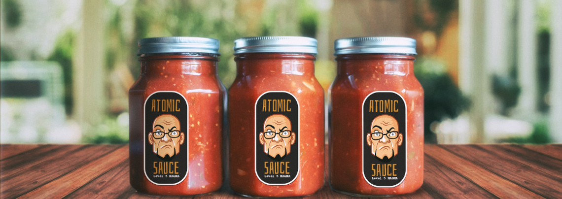 Product Label Automatic Sauce