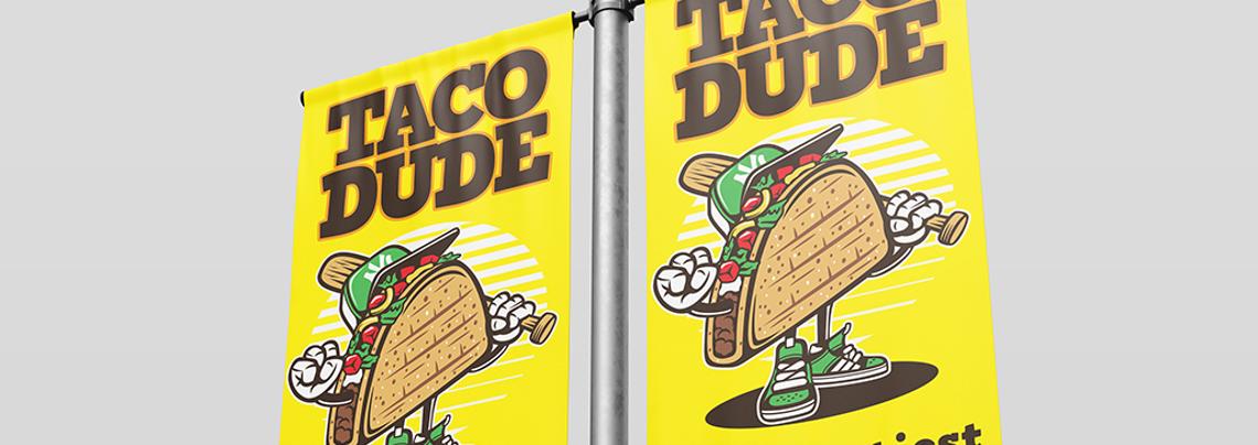 Taco Dude PVC Banner