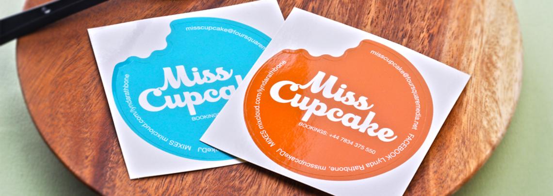 Miss Cupcake Kiss Cut Mirrorkote Stickers